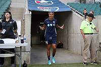 Cary, NC - Saturday April 22, 2017: Jessica McDonald prior to a regular season National Women's Soccer League (NWSL) match between the North Carolina Courage and the Portland Thorns FC at Sahlen's Stadium at WakeMed Soccer Park.