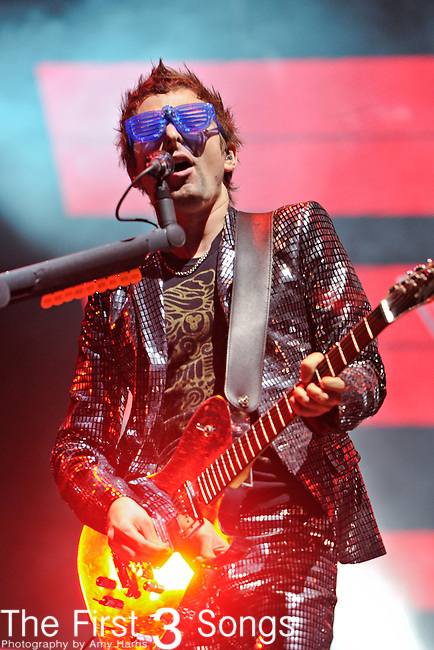 Matthew Bellamy of Muse performs during the 2010 Voodoo Experience in New Orleans, Louisiana.