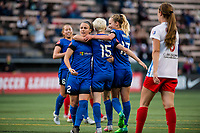 Seattle, WA - Wednesday, June 28, 2017:   Nairn, Megan Rapinoe and Beverly Yanez during a regular season National Women's Soccer League (NWSL) match between the Seattle Reign FC and the Chicago Red Stars at Memorial Stadium.