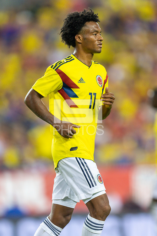 Tampa, FL - Thursday, October 11, 2018: Juan Cuadrado during a USMNT match against Colombia.  Colombia defeated the USMNT 4-2.