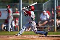 Indiana Hoosiers left fielder Alex Krupa (2) at bat during a game against the Illinois State Redbirds on March 4, 2016 at North Charlotte Regional Park in Port Charlotte, Florida.  Indiana defeated Illinois State 14-1.  (Mike Janes/Four Seam Images)