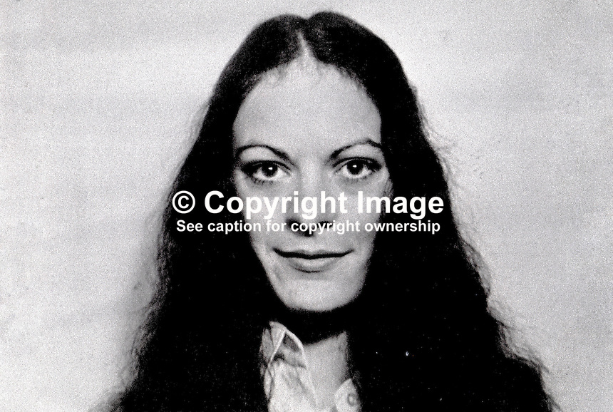 Theresa Holland, 17 years old, from Andersonstown, Belfast, N Ireland, UK, who was the second woman internee during the N Ireland Troubles. 197302160111..Copyright Image from Victor Patterson, 54 Dorchester Park, Belfast, UK, BT9 6RJ..Tel: +44 28 9066 1296.Mob: +44 7802 353836.Voicemail +44 20 8816 7153.Skype: victorpattersonbelfast.Email: victorpatterson@mac.com.Email: victorpatterson@ireland.com (back-up)..IMPORTANT: If you wish to use this image or any other of my images please go to www.victorpatterson.com and click on the Terms & Conditions. Then contact me by email or phone with the reference number(s) of the image(s) concerned.