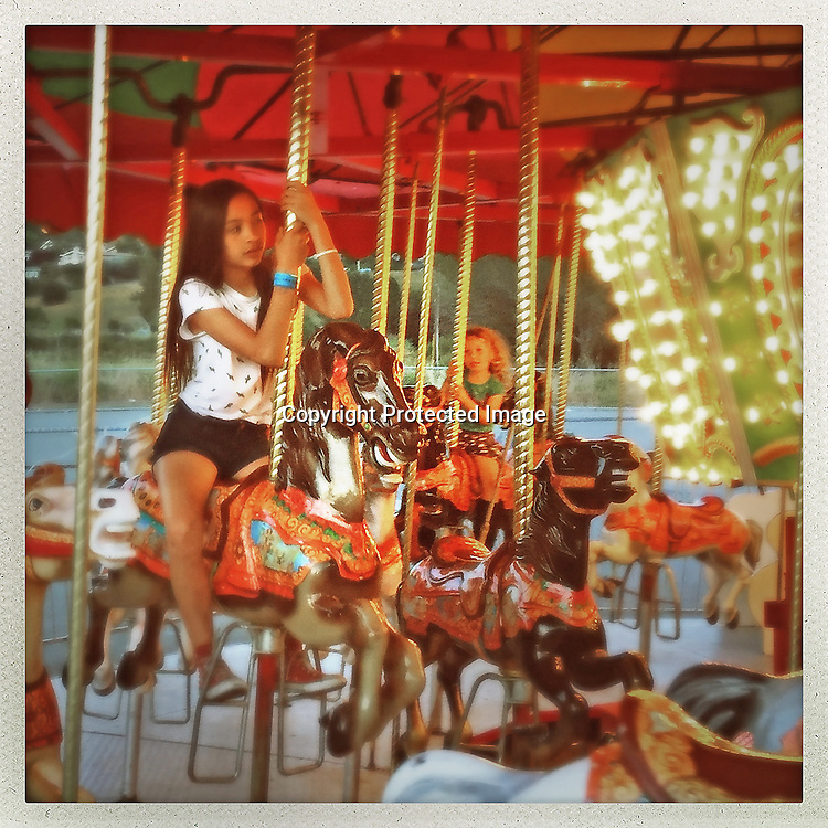 The Merry-Go-Round at the Mill Valley Memorial Day weekend carnival.