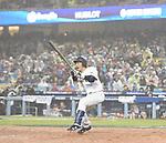 Nobuhiro Matsuda (JPN),<br /> MARCH 21, 2017 - WBC :<br /> Nobuhiro Matsuda of Japan bats during the 2017 World Baseball Classic Semifinal game between United States 2-1 Japan at Dodger Stadium in Los Angeles, California, United States. (Photo by AFLO)