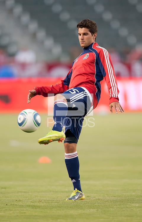 CARSON, CA – SEPTEMBER 10: Chivas USA midfielder Sal Zizzo (15) during warm-ups at Home Depot Center, September 10, 2010 in Carson California.