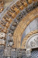 Europe/France/Aquitaine/64/Pyrénées-Atlantiques/Oloron-Sainte-Marie: Détail du portail roman de la cathédrale Sainte-Marie
