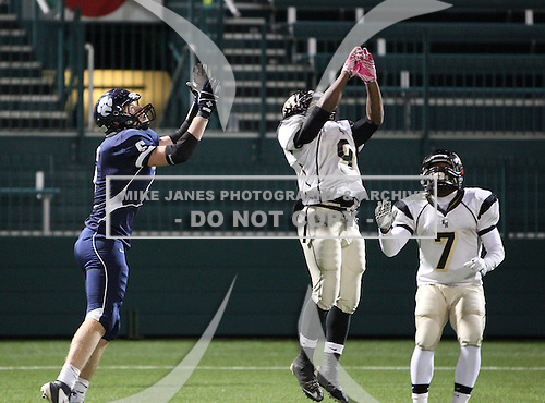 Pittsford Sutherland Knights varsity football against the Rush-Henrietta Royal Comets during the Class-A Section V Championship at Sahlen's Stadium in Rochester, New York on November 5, 2011.  Photo (Copyright Mike Janes Photography 2011)