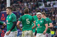 Twickenham, United Kingdom.   Natwest 6 Nations : England vs Ireland. Rory Best, glances at the big screen, after Elliot Daly try in the corner. at the  RFU Stadium, Twickenham, England, <br /> <br /> Saturday   17.03.18<br /> <br /> [Mandatory Credit; Peter Spurrier/Intersport-images]