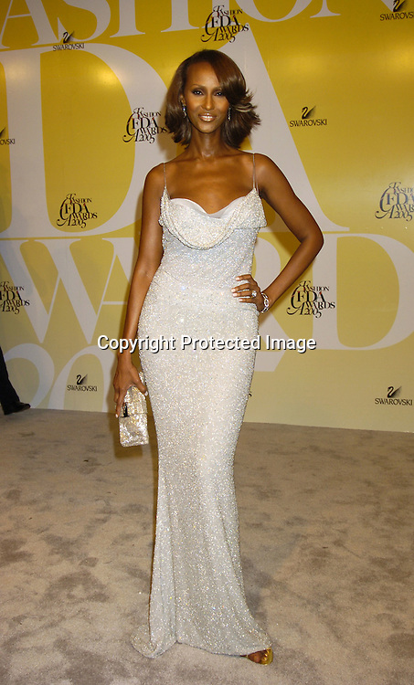 Iman ..at the 2005 CFDA Fashion Awards on June 6, 2005 at ..the New York Public Library. ..Photo by Robin Platzer, Twin Images