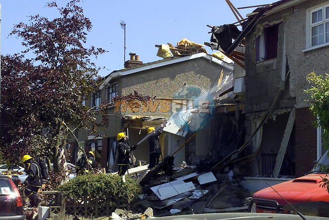 Explosion in Cherrybrook Drive..Exclusive to Fran Caffrey..Picture Fran Caffrey Newsfile.