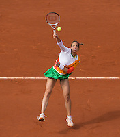 ANDREA PETKOVIC (GER)<br /> <br /> Tennis - French Open 2014 -  Toland Garros - Paris -  ATP-WTA - ITF - 2014  - France - <br /> 4th June 2014. <br /> <br /> &copy; AMN IMAGES