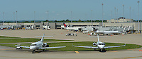 Private jets fly in for the Kentucky Derby. Louisville Regional Airport Authority, Standiford Field Airport and Bowman Field  during Derby time