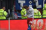 10.03.2019,  GER; 2. FBL, FC St. Pauli vs Hamburger SV ,DFL REGULATIONS PROHIBIT ANY USE OF PHOTOGRAPHS AS IMAGE SEQUENCES AND/OR QUASI-VIDEO, im Bild Pierre-Michel Lasogga (Hamburg #10) schiesst das 1-0 fuer Hamburg und jubelt Foto © nordphoto / Witke