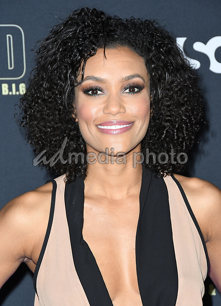 """22 February 2018 - Hollywood, California - Annie Ilonzeh. USA Network's """"Unsolved: The Murders of Tupac & The Notorious B.I.G."""" held at Avalon Hollywood. Photo Credit: Birdie Thompson/AdMedia"""