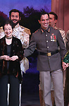 Lynn Ahreans, Constantine Germanacos and Ramin Karimloo during Broadway Opening Night Performance Curtain Call bows for 'Anastasia' at the Broadhurst Theatre on April 24, 2017 in New York City.