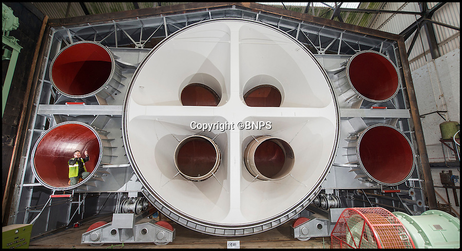 BNPS.co.uk (01202 558833)<br /> Pic: PhilYeomans/BNPS<br /> <br /> The massive 70 ton door to the chamber.<br /> <br /> The coldest of Cold War relics has opened to the public after years of secrecy. <br /> <br /> Barnes Wallis's amazing Stratosphere Chamber was built at Brooklands in 1947 to test aircraft in high altitude conditions of flight.<br /> <br /> Constructed from the hull of a nuclear submarine the 340 ton structure could replicate temperatures down to -60 centigrade at 60,000 feet, as well as blasting rain, sleet or snow at 40 kts through the sealed chamber.<br /> <br /> As well as aircraft the facility was also used to test naval equipment in freezing arctic conditions, and even the effects of icing on trawler rigging.<br /> <br /> The gigantic structure, containing the cockpit of a Viscount passenger aircraft, has now been spruced up and is open to the public at the Brooklands Museum in Weybridge.