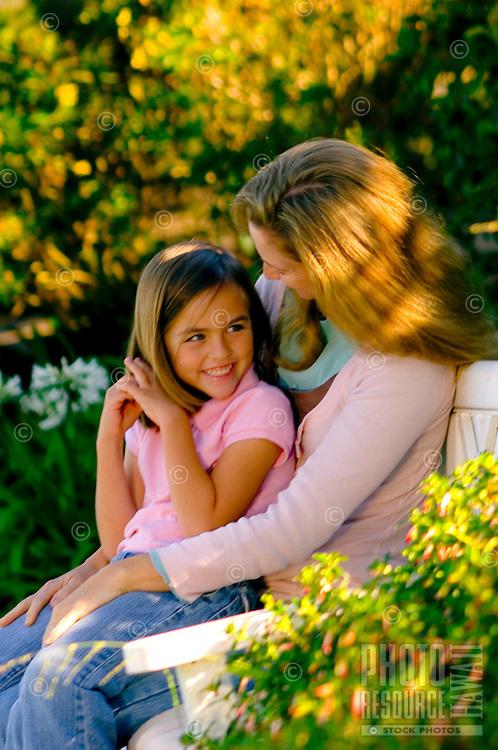Mother & Daughter in Garden