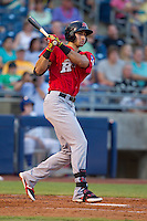 Frisco RoughRiders third baseman Joey Gallo (24) at bat during the Texas League game against the Tulsa Drillers at ONEOK field on August 15, 2014 in Tulsa, Oklahoma  The RoughRiders defeated the Drillers 8-2.  (William Purnell/Four Seam Images)