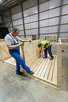 Assembeling new 1.75t wooden boxes for potato storage