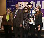 BroadwayHD founders Stewart F. Lane and  Bonnie Comley with Ellie Heyman, Max Vernon and Leah Lane during a panel for BroadwayHD and the future of capturing stage performances for New Musicals at New York Hilton Midtown on January 13, 2019 in New York City.