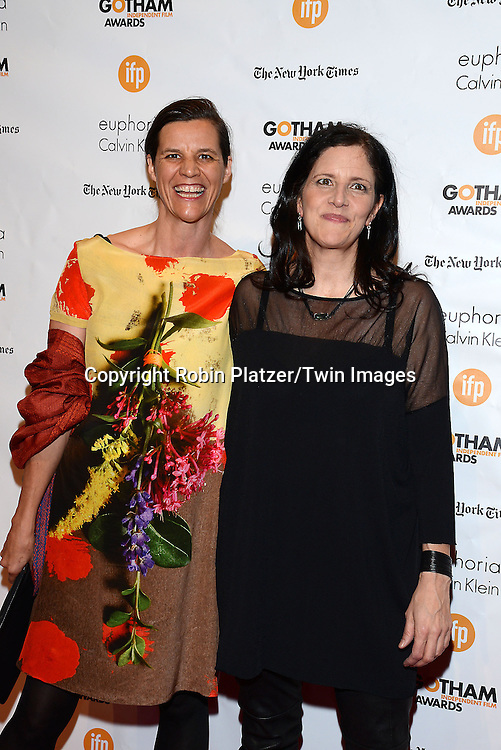 Kirsten Johnson and Laura Poitras attend the 24th Annual Gotham Independent Film Awards on December 1, 2014 at Cipriani Wall Street in New York City, USA. <br /> <br /> photo by Robin Platzer/Twin Images<br />  <br /> phone number 212-935-0770
