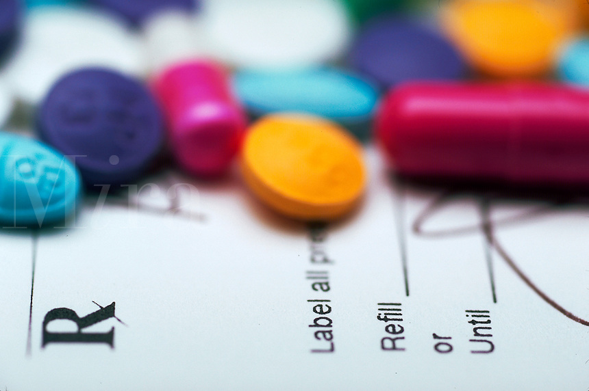 Prescription, tablets and capsules