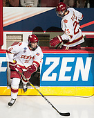 Henrik Borgström (DU - 5), Blake Hillman (DU - 25) - The University of Denver Pioneers defeated the University of Minnesota Duluth Bulldogs 3-2 to win the national championship on Saturday, April 8, 2017, at the United Center in Chicago, Illinois.