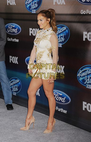 LOS ANGELES, CA - MARCH 11: Actress/singer Jennifer Lopez arrives at Fox's 'American Idol XIV' finalist party at The District on March 11, 2015 in Los Angeles, California.<br /> CAP/ROT/TM<br /> &copy;TM/Roth Stock/Capital Pictures