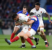 Billy Vunipola of England takes on the France defence. Guinness Six Nations match between England and France on February 10, 2019 at Twickenham Stadium in London, England. Photo by: Patrick Khachfe / Onside Images