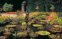 Butchart gardens, popular tourist attraction on Saanich Peninsula.
