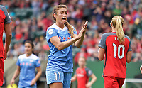 Portland, OR - Saturday April 29, 2017: Sofia Huerta during a regular season National Women's Soccer League (NWSL) match between the Portland Thorns FC and the Chicago Red Stars at Providence Park.