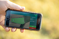A farmers phone app showing a field map <br /> &copy;Tim Scrivener Photographer 07850 303986<br />      ....Covering Agriculture In The UK....