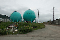 A landscape view of damaged chemical tanks near the Ishinomaki port following the 311 Tohoku Tsunami in Ishinomaki, Japan  © LAN