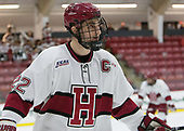Devin Tringale (Harvard - 22) - The Harvard University Crimson defeated the St. Lawrence University Saints 6-3 (EN) to clinch the ECAC playoffs first seed and a share in the regular season championship on senior night, Saturday, February 25, 2017, at Bright-Landry Hockey Center in Boston, Massachusetts.