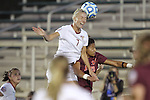 06 December 2013: Florida State's Dagny Brynjarsdottir (ISL) (7) and Virginia Tech's Candace Cephers (18). The Florida State Seminoles defeated the Virginia Tech University Hokies 3-2 at WakeMed Stadium in Cary, North Carolina in a 2013 NCAA Division I Women's College Cup semifinal match.