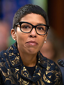 Professor Melissa Murray, Professor of Law, New York University School of Law, New York, New York testifies against the nomination of Judge Brett Kavanaugh before the US Senate Judiciary Committee on his nomination as Associate Justice of the US Supreme Court to replace the retiring Justice Anthony Kennedy on Capitol Hill in Washington, DC on Friday, September 7, 2018.<br /> Credit: Ron Sachs / CNP