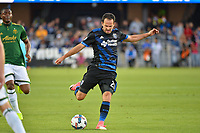 San Jose, CA - Saturday May 06, 2017: Marco Ureña during a Major League Soccer (MLS) match between the San Jose Earthquakes and the Portland Timbers at Avaya Stadium.
