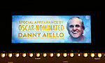 "Theatre Marquee unveiling Danny Aiello appearing in ""Home For The Holidays"" starring Danny Aiello at August Wilson Theatre Theatre on November 3, 2017 in New York City."