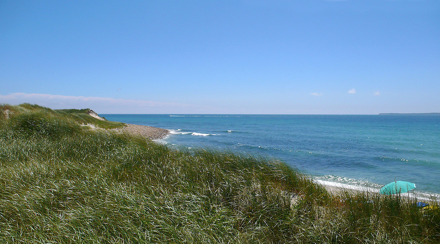 The Atlantic Ocean on the south shore of Martha's Vineyard, MA.......................