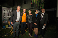 The 3rdLA Project with Christopher Hawthorne hosts a panel discussion at the MAK Center at the Schindler House on architecture and single-family housing on Wednesday, April 8, 2015 in West Hollywood, Calif. <br /> <br /> Panelists from left to right are:<br /> Christopher Hawkins, Mott Smith, Barbara Bestor, Maria Cabildo, and DJ Waldie.<br /> <br /> (Photos by Susanica Tam for Occidental College)