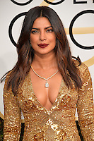 Priyanka Chopra at the 74th Golden Globe Awards  at The Beverly Hilton Hotel, Los Angeles USA 8th January  2017<br /> Picture: Paul Smith/Featureflash/SilverHub 0208 004 5359 sales@silverhubmedia.com