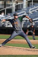 Trevor Graham #30 of the Boise Hawks pitches against the Everett AquaSox at Everett Memorial Stadium on July 25, 2014 in Everett, Washington. Everett defeated Boise, 3-1. (Larry Goren/Four Seam Images)