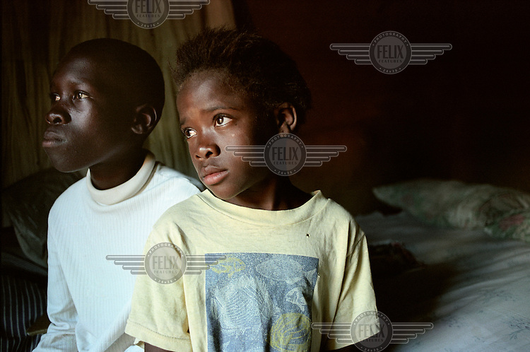 AIDS orphans Tsepang (8) and Manyewe Mokoenya (13) now live by themselves.