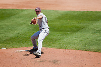 Cody Schumacher (21) of the Missouri State Bears winds up during a game against the Wichita State Shockers in the 2012 Missouri Valley Conference Championship Tournament at Hammons Field on May 23, 2012 in Springfield, Missouri. (David Welker/Four Seam Images).