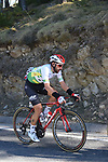 Race leader Thomas De Dendt (BEL) Lotto-Soudal in action during Stage 4 of the Volta Ciclista a Catalunya 2019 running 150.3km from Llanars (Vall De Camprodon) to La Molina (Alp), Spain. 28th March 2019.<br /> Picture: Colin Flockton | Cyclefile<br /> <br /> <br /> All photos usage must carry mandatory copyright credit (© Cyclefile | Colin Flockton)