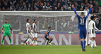 Calcio, Champions League: Gruppo H, Juventus vs Lione. Torino, Juventus Stadium, 2 novembre 2016. <br /> Lyon's Corentin Tolisso, third from right, reacts after scoring the equalizer goal during the Champions League Group H football match between Juventus and Lyon at Turin's Juventus Stadium, 2 November 2016. The game ended 1-1.<br /> UPDATE IMAGES PRESS/Isabella Bonotto