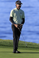 Bubba Watson (USA) on the 7th green during Sunday's Final Round of the 2018 AT&amp;T Pebble Beach Pro-Am, held on Pebble Beach Golf Course, Monterey,  California, USA. 11th February 2018.<br /> Picture: Eoin Clarke | Golffile<br /> <br /> <br /> All photos usage must carry mandatory copyright credit (&copy; Golffile | Eoin Clarke)