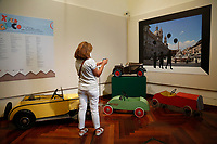 Antique tin cars for children<br /> Antique toys exposed at Palazzo Braschi during the Exhibition 'For fun. Collection of antique toys of Capitoline Superintendency'.<br /> Rome (Italy), July 24th 2020<br /> Foto Samantha Zucchi Insidefoto