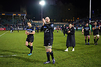 Matt Garvey of Bath Rugby leads his team around the field after the match. European Rugby Champions Cup match, between Bath Rugby and RC Toulon on December 16, 2017 at the Recreation Ground in Bath, England. Photo by: Patrick Khachfe / Onside Images