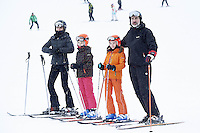 05-02-2017 Spain Queen Letizia and King Felipe and Princess Leonor and Princess Sofia enjoying a day of skiing in the ski area Candanchu-Astun, in the sector Astun. The Royal Family has spent the entire weekend in the Aragon Valley on a private visit. They have been at the Real Villa Anayet Hotel in Canfranc. Photo Credit: PPE/face to face/AdMedia